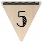Vlaggetje Hout - diverse letters/cijfers/tekens-6082