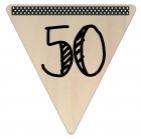 Vlaggetje Hout - diverse letters/cijfers/tekens-6075