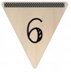 Vlaggetje Hout - diverse letters/cijfers/tekens-6083