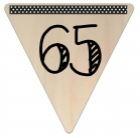 Vlaggetje Hout - diverse letters/cijfers/tekens-6076