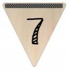 Vlaggetje Hout - diverse letters/cijfers/tekens-6072