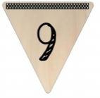 Vlaggetje Hout - diverse letters/cijfers/tekens-6074
