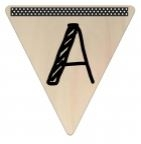 Vlaggetje Hout - diverse letters/cijfers/tekens-6077