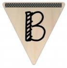 Vlaggetje Hout - diverse letters/cijfers/tekens-6078