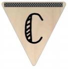 Vlaggetje Hout - diverse letters/cijfers/tekens-6080