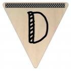 Vlaggetje Hout - diverse letters/cijfers/tekens-6081