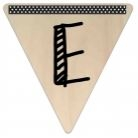 Vlaggetje Hout - diverse letters/cijfers/tekens-6085