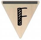 Vlaggetje Hout - diverse letters/cijfers/tekens-6084