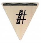 Vlaggetje Hout - diverse letters/cijfers/tekens-6062