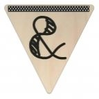 Vlaggetje Hout - diverse letters/cijfers/tekens-6068