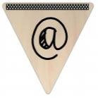 Vlaggetje Hout - diverse letters/cijfers/tekens-6071