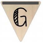Vlaggetje Hout - diverse letters/cijfers/tekens-6086
