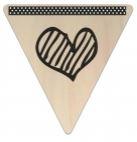 Vlaggetje Hout - diverse letters/cijfers/tekens-6088