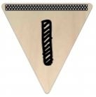 Vlaggetje Hout - diverse letters/cijfers/tekens-6089