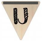Vlaggetje Hout - diverse letters/cijfers/tekens-6090