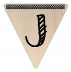 Vlaggetje Hout - diverse letters/cijfers/tekens-6091
