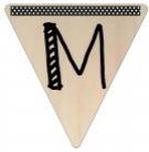 Vlaggetje Hout - diverse letters/cijfers/tekens-6096