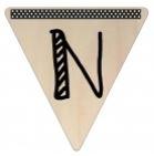Vlaggetje Hout - diverse letters/cijfers/tekens-6093