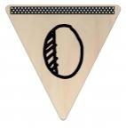Vlaggetje Hout - diverse letters/cijfers/tekens-6094