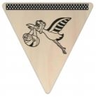 Vlaggetje Hout - diverse letters/cijfers/tekens-6095