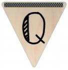 Vlaggetje Hout - diverse letters/cijfers/tekens-6097