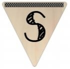 Vlaggetje Hout - diverse letters/cijfers/tekens-6099