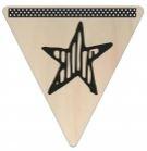 Vlaggetje Hout - diverse letters/cijfers/tekens-6100