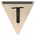 Vlaggetje Hout - diverse letters/cijfers/tekens-6101