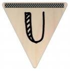 Vlaggetje Hout - diverse letters/cijfers/tekens-6102