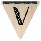 Vlaggetje Hout - diverse letters/cijfers/tekens-6103