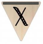 Vlaggetje Hout - diverse letters/cijfers/tekens-6108
