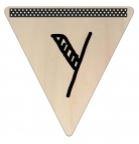 Vlaggetje Hout - diverse letters/cijfers/tekens-6110