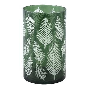 Yerba green Glass vase fern round L - PTMD-0