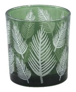 Yerba green Glass vase fern round s - PTMD-0