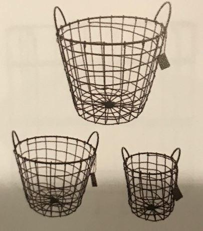 Iron Basket , Set van 3 - Home Society-0
