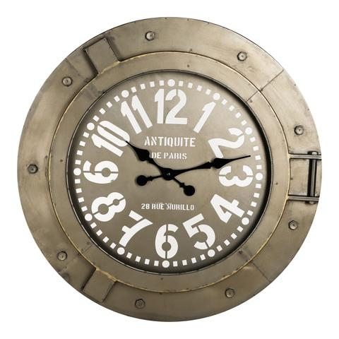 Fabric metal clock round - PTM-0