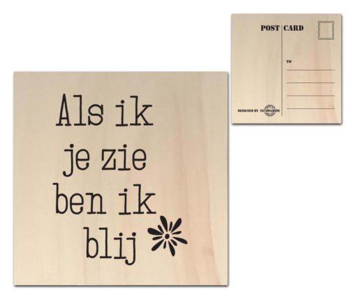 Houten Ansichtkaarten - Diverse Teksten - Factory4Home-6692