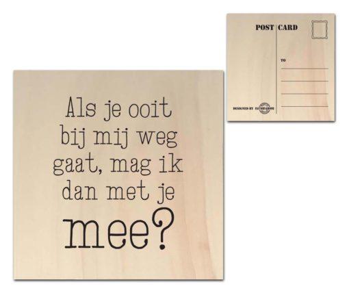 Houten Ansichtkaarten - Diverse Teksten - Factory4Home-6681