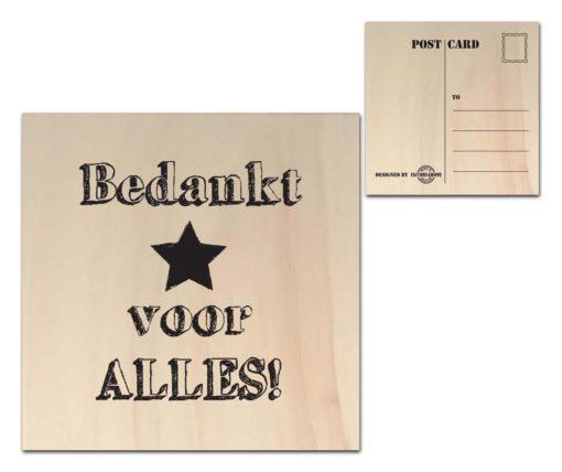 Houten Ansichtkaarten - Diverse Teksten - Factory4Home-6677