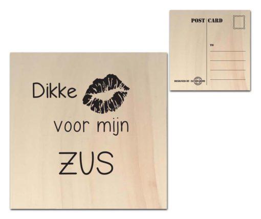 Houten Ansichtkaarten - Diverse Teksten - Factory4Home-6673