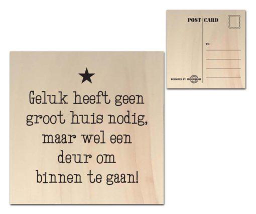 Houten Ansichtkaarten - Diverse Teksten - Factory4Home-6678