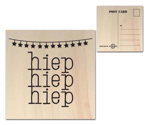 Houten Ansichtkaarten - Diverse Teksten - Factory4Home-6684
