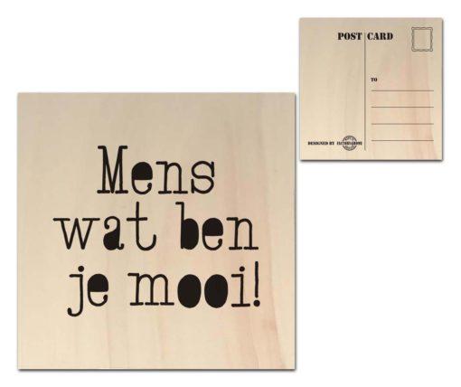 Houten Ansichtkaarten - Diverse Teksten - Factory4Home-6687