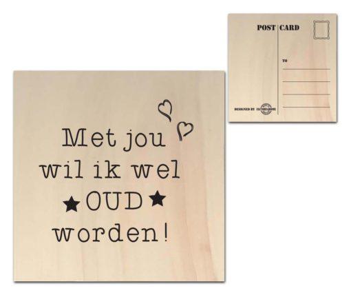 Houten Ansichtkaarten - Diverse Teksten - Factory4Home-6688