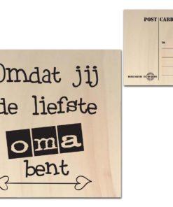 Houten Ansichtkaarten - Diverse Teksten - Factory4Home-6674