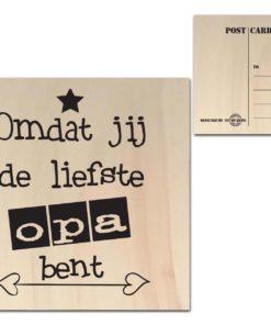 Houten Ansichtkaarten - Diverse Teksten - Factory4Home-6686