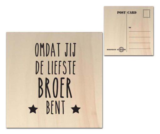 Houten Ansichtkaarten - Diverse Teksten - Factory4Home-6694