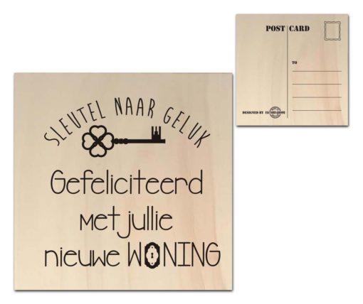 Houten Ansichtkaarten - Diverse Teksten - Factory4Home-6683