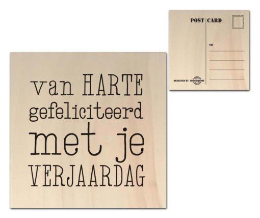 Houten Ansichtkaarten - Diverse Teksten - Factory4Home-0
