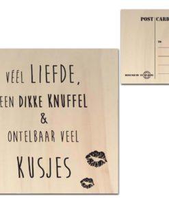 Houten Ansichtkaarten - Diverse Teksten - Factory4Home-6680